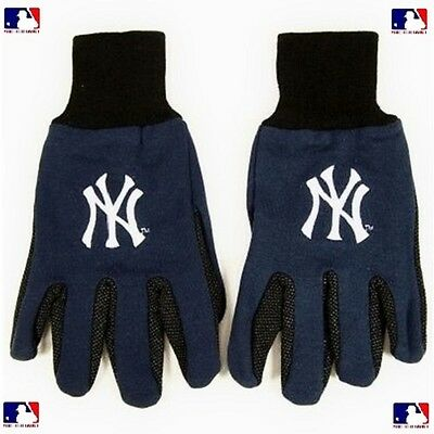New York YANKEES Grip GLOVES Embroidered Logo NEW Med. - LG *
