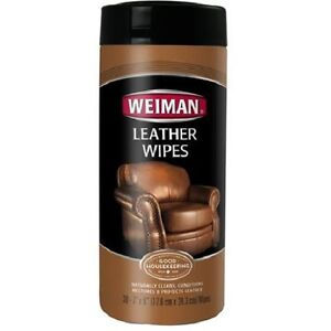 Weiman Leather Wipes Furniture Shoes Cleaner Polish 30 Wipes 7 X 8