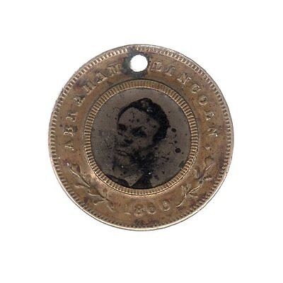 Abraham Lincoln 1860 Campaign Ferrotype Button