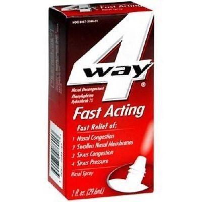 4 Way Nasal Decongestant Fast Acting Nasal Spray 4 Way Spray