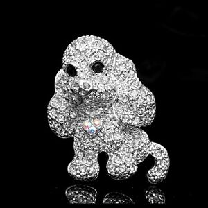 Cute Crystals Cocker Spaniel Dog Puppy Brooch Pin B673