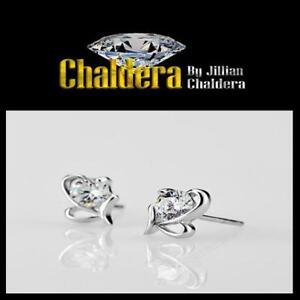 50% OFF $10 A Pair Bow-knot Silver Plated Rhinestone Earrings