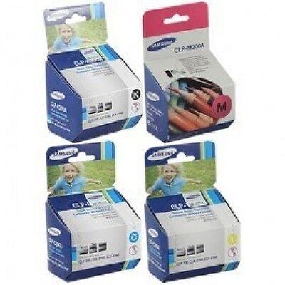 4 Color Genuine Samsung Clp-300n Clx-2160n Clx-3160fn Pri...