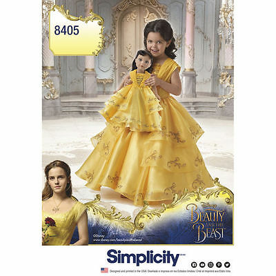 Simplicity Pattern 8405 Disney Beauty & the Beast Costume for Child and 18