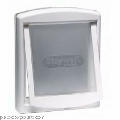 Staywell Petsafe 740 Medium Dog Door 2 Way Locking Pet Cat Flap White catflap
