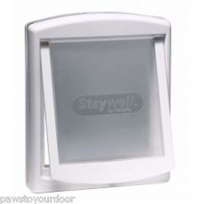 Staywell Petsafe 2 way locking medium dog pet door cat flap white catflap 740