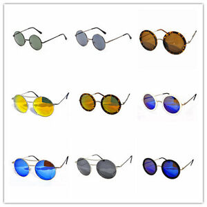 Mens-Womens-Aviators-ROUND-Retro-HIPPY-Vintage-Sunglasses-FREE-Pouch-AU-seller