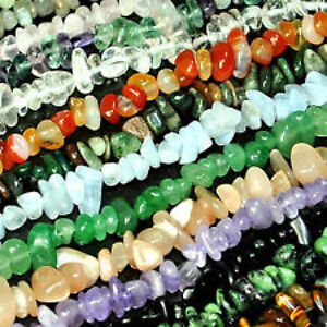 5-10mm-Natural-Chip-Nugget-Freeform-Gemstone-Beads-34-Pick-Stone