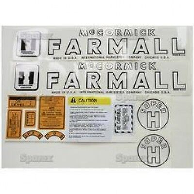 New Farmall Decal Set For Models Super H