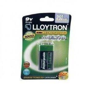 Lloytron-NIMH-AccuUltra-Rechargeable-Battery-9V-250mAh