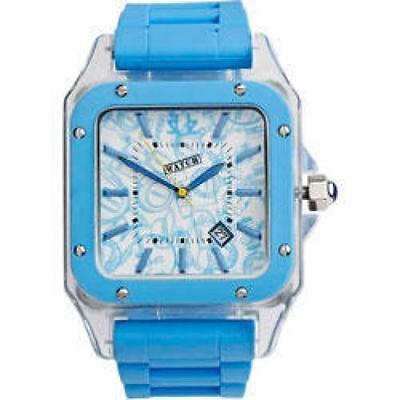 Reloj Pulsera Azul Eléctrico Urbanz A La Moda Visor Fecha