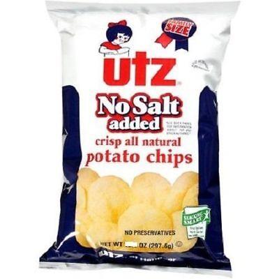 Utz No Salt Added Original Potato Chips No Salt Potato Chips