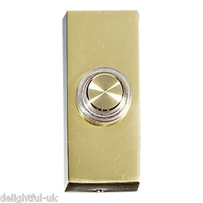 Brass Doorbell Unlit Bell Push - Suface Mounted Ducat D622 - Made by Friedland