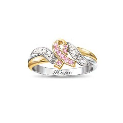 Engraved Hope Breast Cancer Cure Symbol of Faith Awareness Ring (Breast Cancer Symbols)