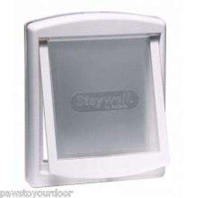 Staywell Petsafe 760 large dog door 2 way white pet cat flap 760EF see thru flap