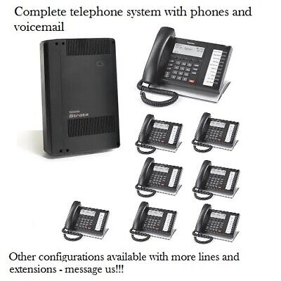 Refurbished Toshiba Cix40 Phone System With 8 Dp5022sdm Phones And Voicemail