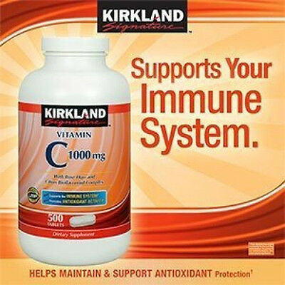Kirkland Signature Vitamin C 1000mg With Rose Hips, 500 Tablets