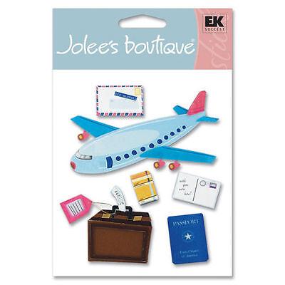 JOLEE's Scrapbooking 3D Sticker ~ AIRPLANE TRAVEL ~ FLUGREISE ~ URLAUB ~ GEPÄCK