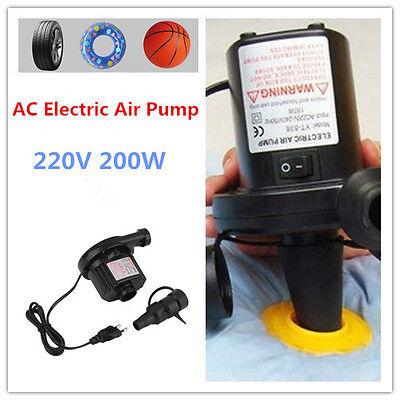 Ac Electric Air Pump Inflate Airbed Mattress Boat Electric Inflator Suueu Plug