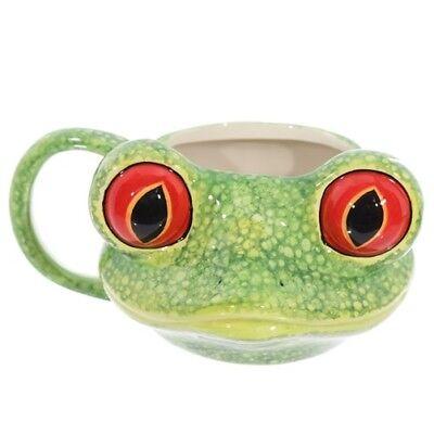Tasse Baumfrosch Kopf 400 ml Kaffeetasse Henkelbecher Frosch Froschkopf frog