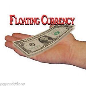 FLOATING CURRENCY DOLLAR BILL Street Magic Trick Paper Money Levitation Floats