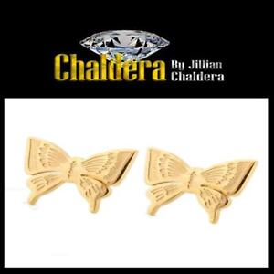 50% OFF $10 A Pair Butterfly Steel Stud Earrings Gold Color
