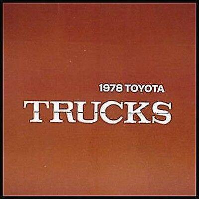 1978 Toyota Truck Prestige Brochure- MINT!