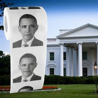 Obama Novelty Toilet Paper   Funny Gag Gift Practical Joke