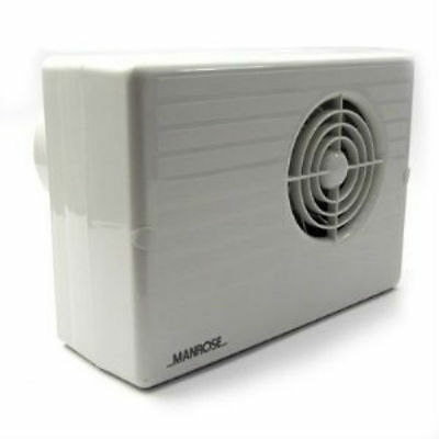 Manrose CF200H Centrifugal Bathroom Extractor Fan with Humidistat/Timer - 4""