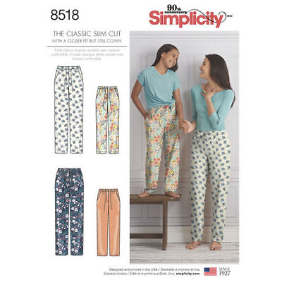 Simplicity 8518 Classic SLIM Sewing Pattern Misses XS-XL & Girl's S (7)-L(16)