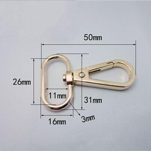 Lobster Swivel Bag Handbag Shoulder Strap Belt Clasp Clip Buckle Trigger Gold