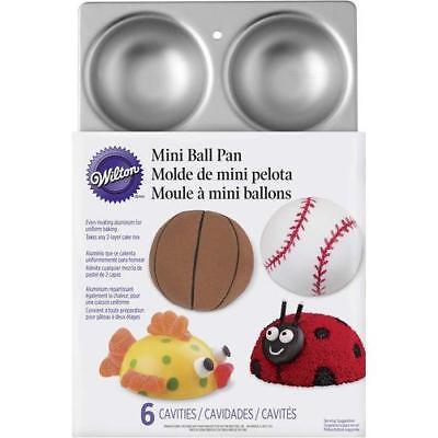 Wilton MINI Ball Pan 2105-1760 Makes 6 1/2 3D Balls Clowns Sports Balls Wilton Mini Ball Pan