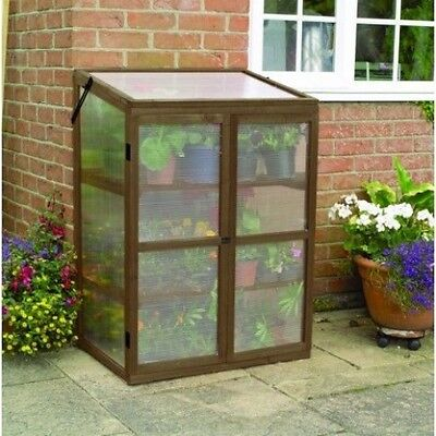 Gardman Wooden / Timber & Polycarbonate Plant Growhouse / Garden Greenhouse
