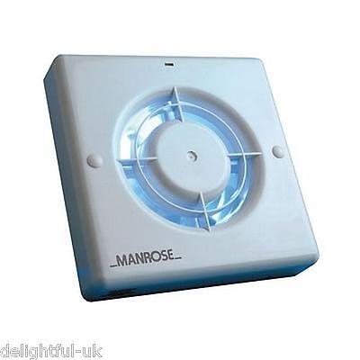 "Manrose XF100LV 100mm 4"" Wall/Ceiling 12v Low Voltage Bathroom Extractor Fan"