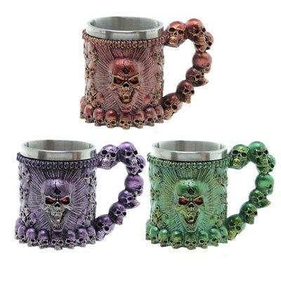 Metallic-kaffee (Tasse schreiender Totenschädel B-Ware Metallic Kaffeetasse Schädel Totenkopf )