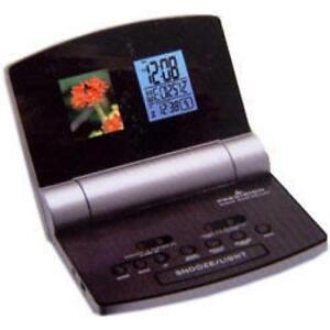 radio controlled snooze alarm clock digital photo frame ebay. Black Bedroom Furniture Sets. Home Design Ideas