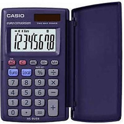 Casio Solar Pocket Calculator 8 Digit Display Flip Case