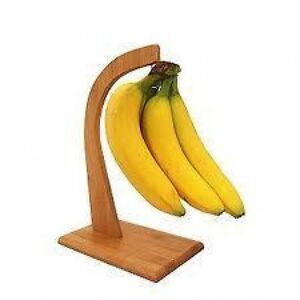 new bamboo wooden banana tree holder stand rack kitchen