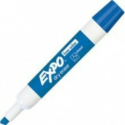 Expo Low Odor Chisel White Board Marker Blue 12ea 80003