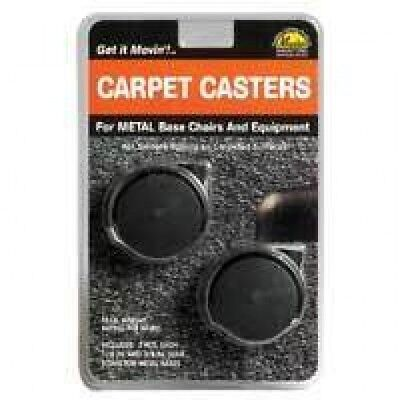 Replacement Carpet Casters - For Metal Base Chairs Equipment - Black 2 Pack
