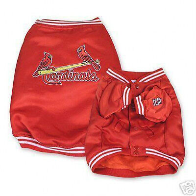 - MLB St Louis CARDINALS Dog Pet DUGOUT JACKET Closeout SPECIAL PRICES! HURRY!
