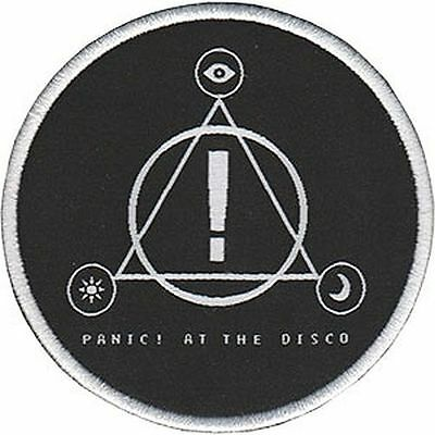 PANIC AT THE DISCO - TRIANGLE LOGO - EMBROIDERED PATCH - BRAND NEW - MUSIC 4578