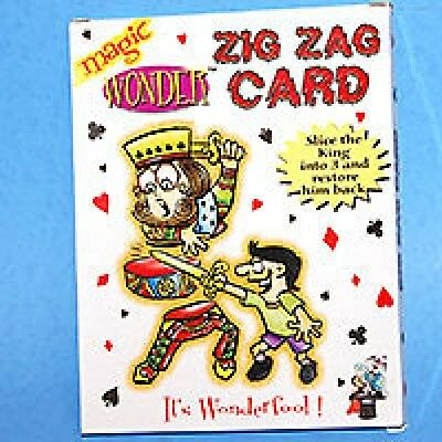 MAGIC ZIG ZAG CARD Trick Playing Close Up Frame Street Beginner Magician Toy