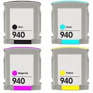 1 FULL set  940XL  4  INK CARTRIDGES For HP OfficeJet Pro 8000 8500 A909n A909g