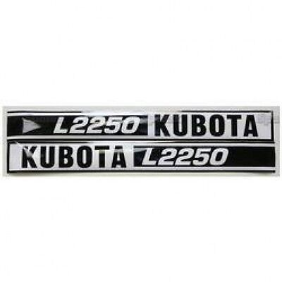 New Kubota L2250 Blackwhite Decal Set