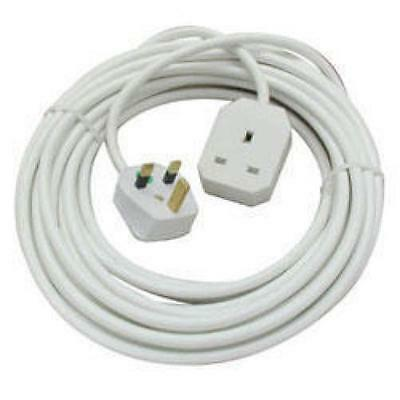 3 M Metre 1 Way Mains Plug Socket Extension Lead Long