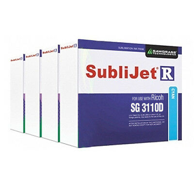 Sawgrass Sublijet-r Sublimation Ink Set Cmyk For Ricoh Sg 3110d Printer
