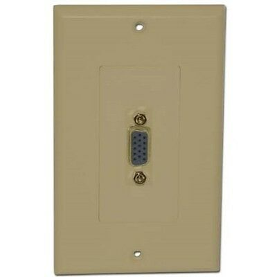 Wall Plate with VGA Female to Female, Ivory
