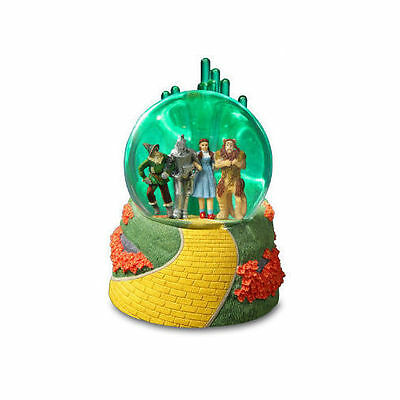 Wizard of OZ Emerald City 4 Character Lighted Snow Globe San Francisco Music Box