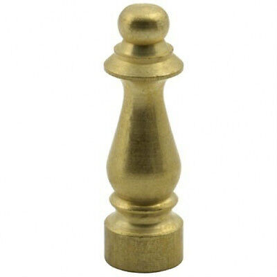 """(1)  DECO SOLID BRASS LAMP FINIAL TOP 1 1/2"""" TALL  TAP 1/4-27 LAMP FINIAL KNOB"""